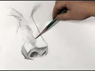 素描鼻子的画法图解 素描鼻子的分解画法 素描鼻子的画法 素描鼻子