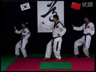 跆拳道 教学视频 跆拳道 太极七章图片