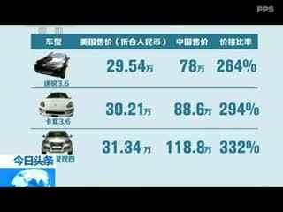 陆家嘴微评:进口车垄断暴利该休矣--华数TV