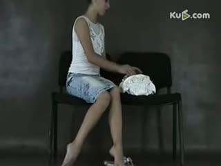 杂技柔术表演 性感美女柔术训练图片