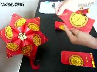 折纸简单灯笼制作方法图片 儿童简单折纸灯笼图解,折纸灯笼制作方法图片