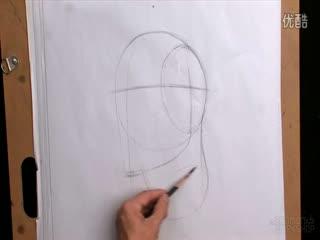 人物素描入门教程 人物素描头像6 华数tv 高清图片
