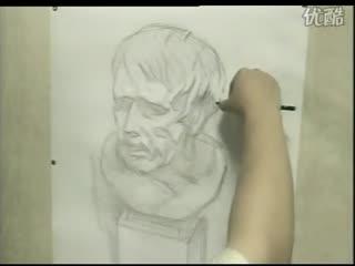 人物素描 人物素描入门教程 素描教学3 华数t 高清图片