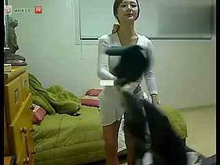 韩国美女主播青草热舞诱惑自拍