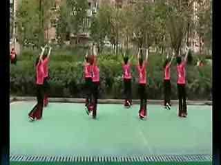 周思萍广场舞荷塘月色背面演示 广场舞教学