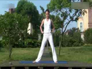 瘦腿v瘦腿瑜伽在家练室内全套收腰练习--华数TV刘敏a瘦腿瘦身工作室图片
