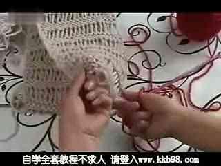 简单编织围巾花样图解 双元宝针围巾的织法视频