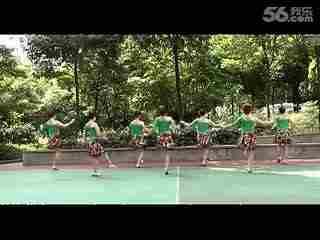 最新最强周思萍广场舞系列 山不转水转 背面演示