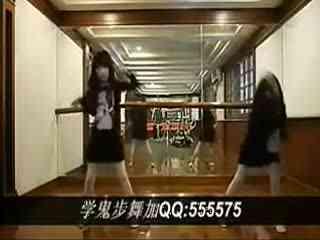 双胞胎美女鬼步舞教学视频