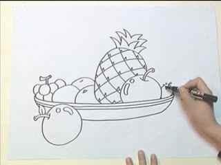 姜宏儿童简笔画教学 第四课之桌子上的物品(4)