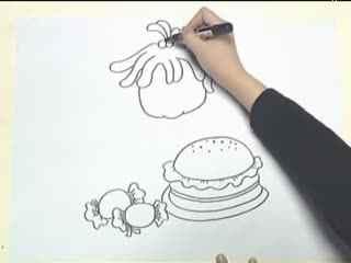 姜宏儿童简笔画教学 第四课之桌子上的物品(3)