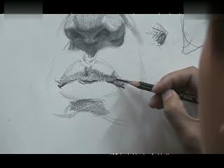 人物素描入门 素描教学视频 素描教程 华数tv 高清图片