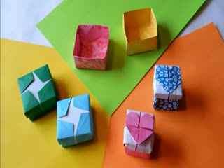 折纸大全图解怎么diy漂亮的方盒图片