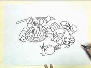 姜宏儿童简笔画教学第9课之一群小螃蟹(5)
