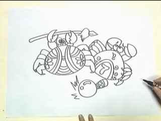 如何画螃蟹简笔画; 儿童学习简笔画(三);