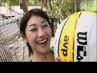 【日本美女】原千惠海滩清凉写真