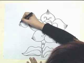 姜宏儿童画 教学 花丛中的小蜜蜂