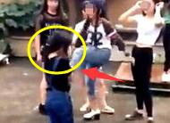 永新初中生打人视频 5女生连番上阵一边嬉笑一边骂脏话